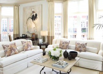 Knightsbridge townhouse bright lounge area interior design