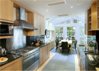 kitchen with conservatory dining room interior design